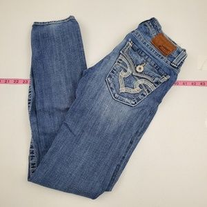 Big Star Jeans sweet skinny 26R low Rise H53